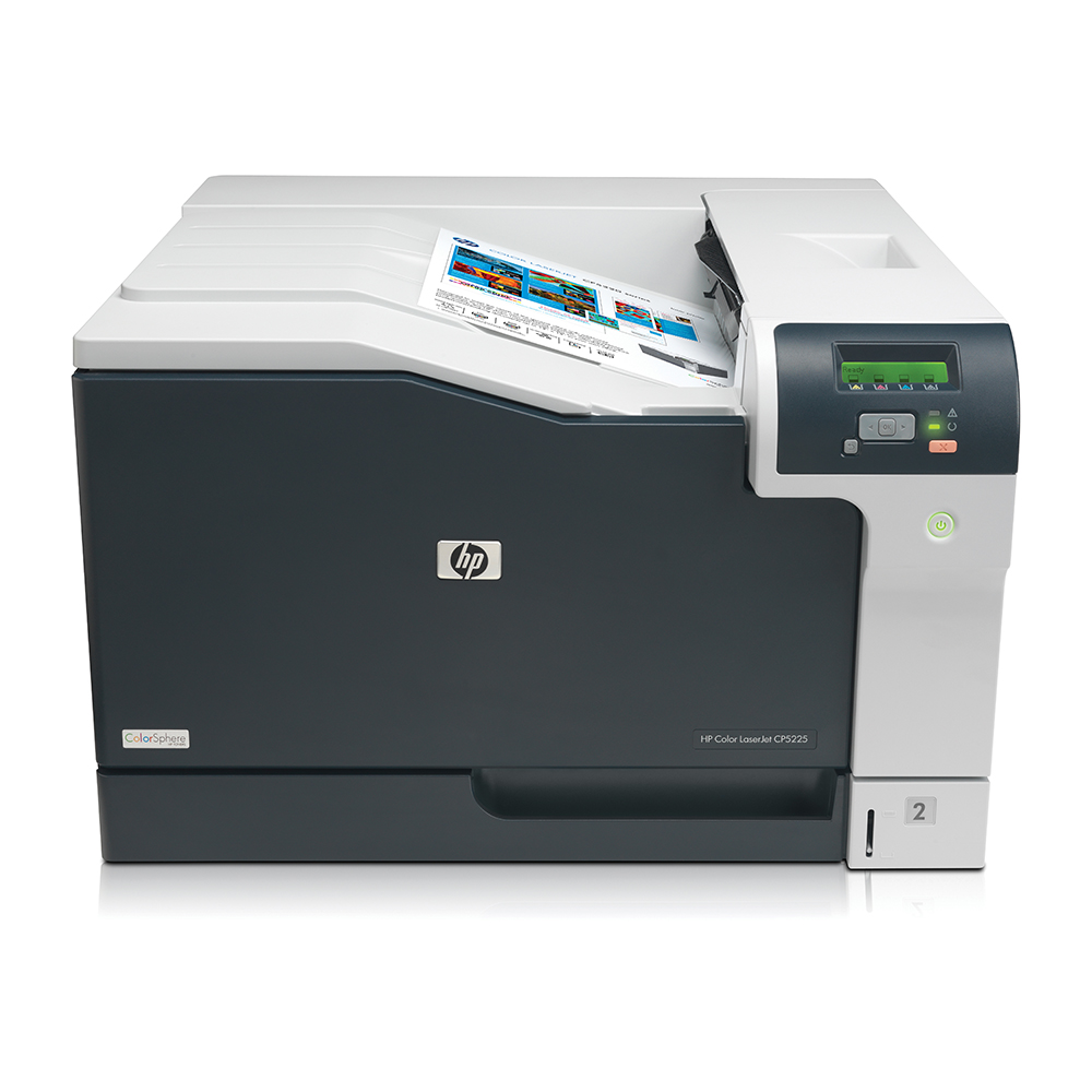 An image of HP LaserJet Professional CP5225n A3 Colour Laser Printer,CE711A, network, USB