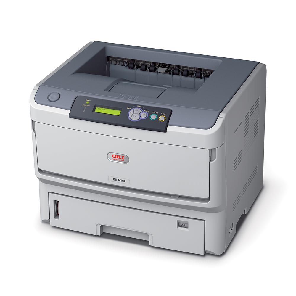 An image of Oki B840DN A3 Mono LED Printer,01308001, duplex, network, USB