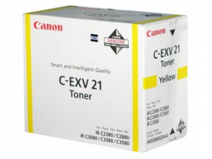 Canon 0455B002AA C-EXV21 Yellow Toner Cartridge (14,000 pages*)
