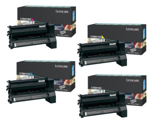 Lexmark PB-LEXC780VAL1 CMYK Return Program Toner Cartridge (save