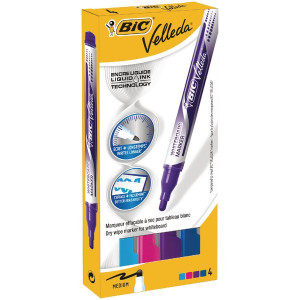 Bic Velleda Fashion Colour Drywipe Markers (4 Pack) 927157