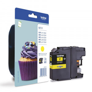 Brother LC-123Y Yellow Ink Cartridge (600 pages*) LC123Y