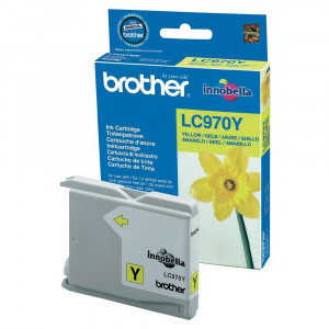 Brother LC970Y Yellow Ink Cartridge (300 pages*)