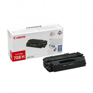 Canon 0917B002AA Black Toner Cartridge 708H (6,000 pages*)