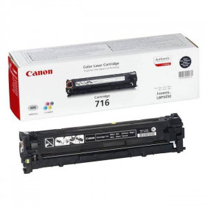 Canon 1980B002AA 716 Black Toner Cartridge (2,300 pages*)