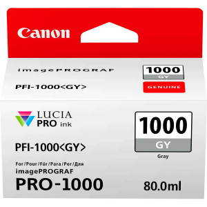 Canon PFI-1000GY Grey Ink Tank 80ml
