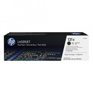 HP CF210XD 131X High Yield Black Toner Cartridge Twin Pack (2x 2,400 pages*)