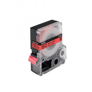 Epson LC-5RBP9 - 18mm x 9m - Black on Red Tape