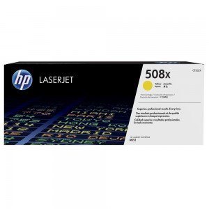 HP 508X High Yield Yellow LaserJet Toner Cartridge (9,500 pages*)