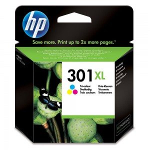 HP CH564EE 301XL Tri-Colour Ink Cartridge (330 pages*)