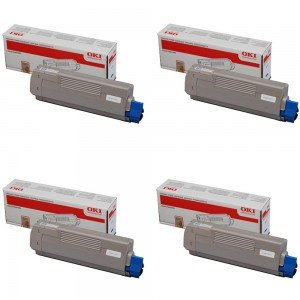 Oki CMYK Toner Cartridge Pack (Save .2)