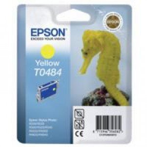 Epson T0484 Yellow Ink Cartridge (13ml) C13T04844010