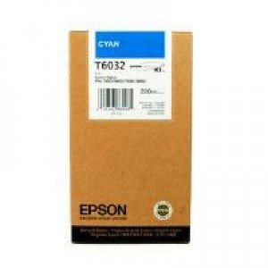 Epson T6032 Cyan Ink Cartridge (220ml) C13T603200