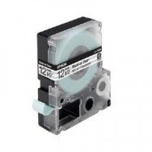 Epson LC-4TBN9 - 12mm x 9m - Black on Clear Tape