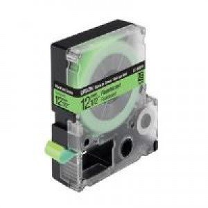 Epson LC-4GBF9 - 12mm x 9m - Black on Green Tape C53S625413