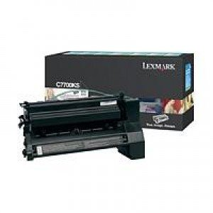 Lexmark C7700KS Black Return Program Print Cartridge (6,000 pages*) 00C7700KS