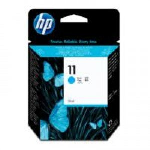 HP No. 11 Cyan Ink Cartridge (2,350 pages*)