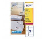 Avery QuickPEEL Laser Address Labels (10,500 Pack) L7160-500