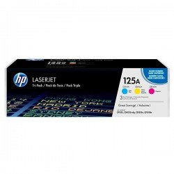 HP 125A CMY Rainbow Toner Cartridge Multipack (1,400 pages* each)