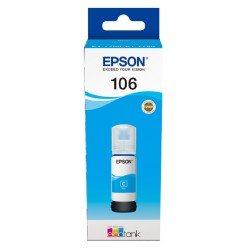 Epson 106 EcoTank Cyan Ink Cartridge (70ml) C13T00R240