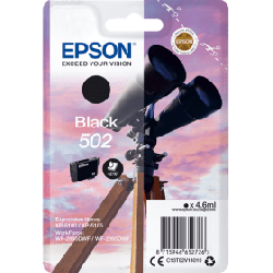 Epson 502 Standard Black Ink Cartridge (170 Pages*) C13T02V14010