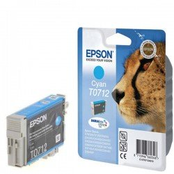 Epson C13T07124011 T0712 Cyan Ink Cartridge (5.5ml) C13T07124010