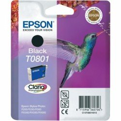 Epson C13T08014011 T0801 Black Ink Cartridge (7.4ml) C13T08014010