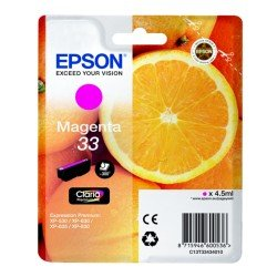 Epson C13T33434010 T3343 Standard 33 Magenta Ink Cartridge (4.5ml)