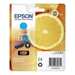 Epson T3362 High Yield 33XL Cyan Ink Cartridge (8.9ml) C13T33624010