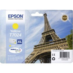Epson C13T70244010 T7024 High Yield Yellow Ink Cartridge (2,000 pages*)