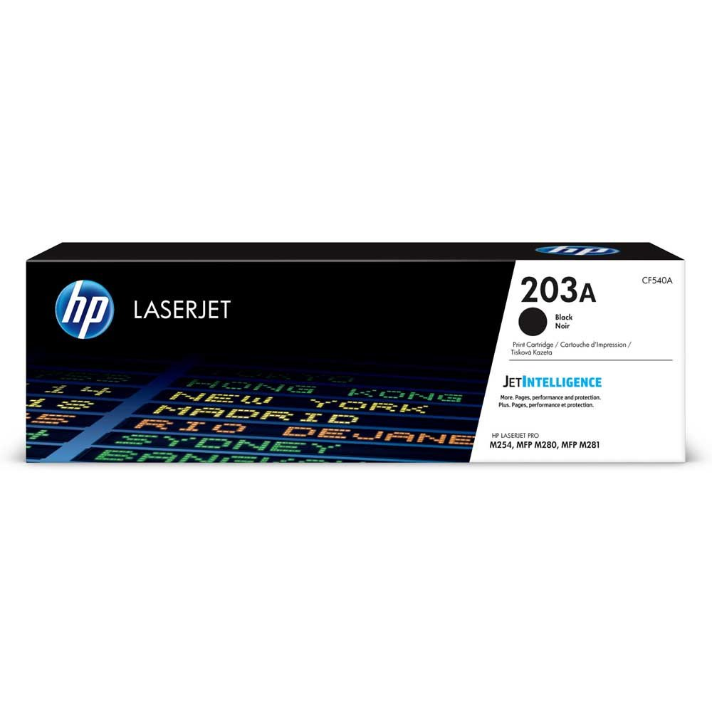 HP 203A Black Toner Cartridge (1,400 Pages*) CF540A