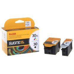 Kodak 8039745 No.30 Black + No.30CL Colour, Ink Combo Pack