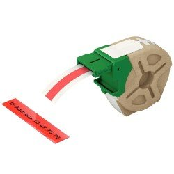 Leitz 70150025 Red Adhersive Plastic Label Cartridge 12mmx10m