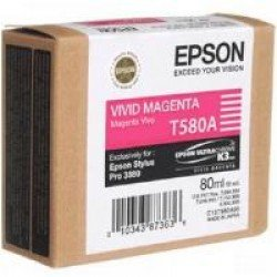 Epson T580A Vivid Magenta Ink Cartridge (80ml)
