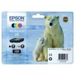 Epson T2616 Standard Yield 26 CMYK Ink Cartridges (total 19.7ml)