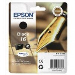 Epson C13T16214010 16 Black Ink Cartridge (5.4ml)