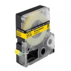 Epson LC-3YBW9 - 9mm x 9m - Black on Yellow Tape