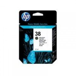 HP C9412A No.38 Matte Black Pigment Ink Cartridge with Vivera Ink (27ml)