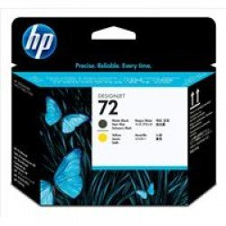 HP No.72 Matte Black and Yellow Printhead