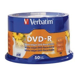 Verbatim Printable DVD-R - Spindle (50 Pack)