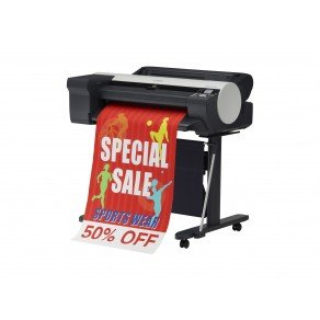 Canon imagePROGRAF iPF6400SE 24-in Colour Inkjet Printer with Roll Feed, Stand & Basket *CLR*