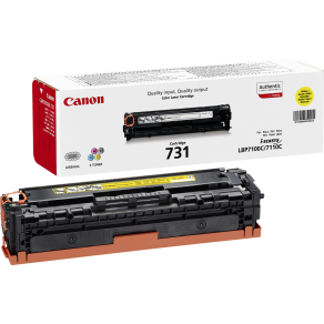 Canon 731Y Yellow Toner Cartridge (1,500 pages*)
