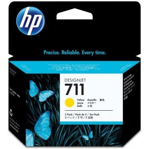 HP 711 Yellow Ink Cartridges (3x 29ml )