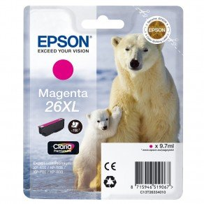 Epson T2633 High Yield 26XL Magenta Ink Cartridge (9.7ml) C13T26334010