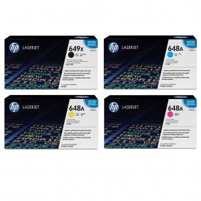 HP 649/648 CMYK Toner Cartridge Multipack