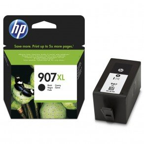 HP 907XL High Yield Black Original Ink Cartridge (1,500 pages*)