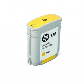 HP F9J61A 728 Yellow Ink Cartridge 40ml