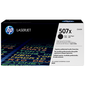 HP CE400X High Yield 507X Black Toner Cartridge (11,000 pages*)
