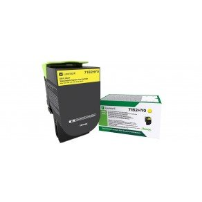 Lexmark 71B2HY0 Yellow High Yield Return Programme Toner Cartridge (3,500 Pages*)