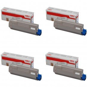 Oki PB-OKIMC861VAL High Yield CMYK Toner Cartridge Pack (Save